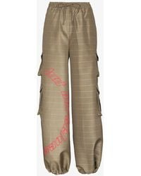 Daily Paper Kensine Checked Cargo Pants - Natural