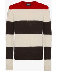 CALVIN KLEIN 205W39NYC - Striped Knitted Jumper - Lyst