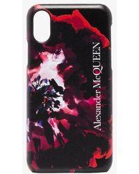 Alexander McQueen Abstract Print Iphone X Case - Black