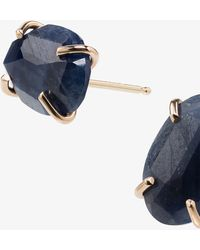 Melissa Joy Manning - 14k Yellow Gold Sapphire Stud Earrings - Lyst