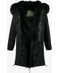 Mr & Mrs Italy - Raccoon Fur Trimmed Parka Coat - Lyst