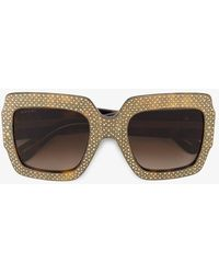 Gucci - Rhinestone Embellished Sunglasses - Lyst