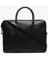 Prada Black Leather Briefcase