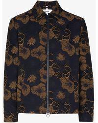 Soulland Mapp Floral Print Jacket - Blue