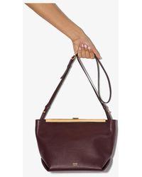 Khaite Red Augusta Leather Cross Body Bag - Purple