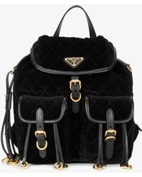 Prada - Embellished Quilted Backpack - Lyst