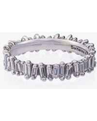 Suzanne Kalan 14k Gold Eternity Diamond Band - White