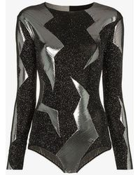 Alexia Hentsch - X Browns Metallic Lightning Bodysuit - Lyst