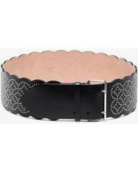 Alaïa - Black Wave Studded Leather Belt - Lyst