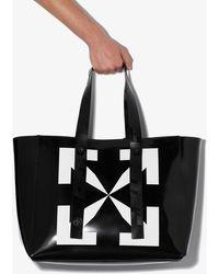 Off-White c/o Virgil Abloh Black Arrow Leather Tote Bag