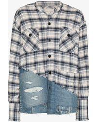 Greg Lauren River Denim 50-50 Boxy Studio Shirt - Blue
