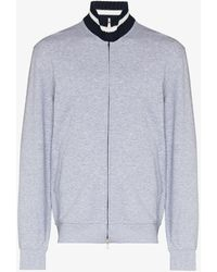 Brunello Cucinelli Varsity Zip-up Sweater - Gray