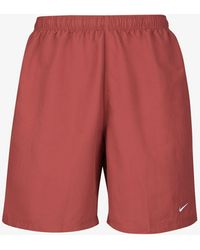 Nike Red Nrg Solo Swoosh Track Shorts - Brown
