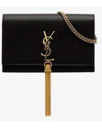 Saint Laurent Black Kate Tassel Logo Bag