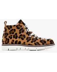 Fracap Leopard Print Hiking Boots - Brown