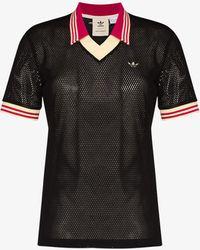 adidas X Wales Bonner Mesh Polo Shirt - Black