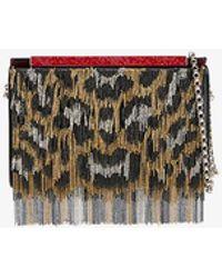 Christian Louboutin - Leopard Print Chain Vanite Bag - Lyst