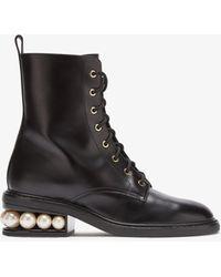 Nicholas Kirkwood Casati 35mm Combat Boots - Black