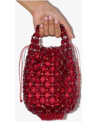 Simone Rocha X Browns 50 Beaded Mini Tote Bag - Red