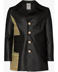BETHANY WILLIAMS Contrast Patch Faux Leather Jacket - Black