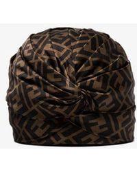Fendi Womens Brown Ff Motif Turban