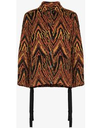 Song For The Mute Goblin Patterned Jacket - Orange
