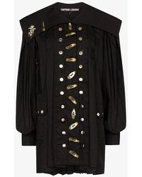 Chopova Lowena Alex Shift Mini Dress - Black