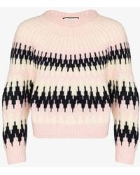 Gucci Intarsia-knit Jumper - Pink