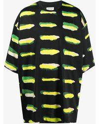 Dries Van Noten Heky Printed Cotton T-shirt - Black