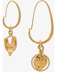 Givenchy - Gold Metallic Heart Earrings - Lyst