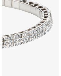 SHAY 18k White Gold Stretch Diamond Bracelet - - 18kt Gold/diamond - Metallic