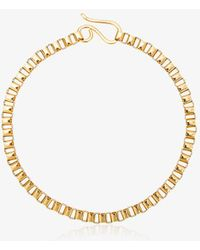 Jelena Behrend 24kt Yellow Gold Baltic Cube Link Necklace - Metallic