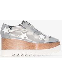 Stella McCartney Silver Elyse Star Platform Patent Shoes - Metallic