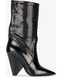 Saint Laurent - Niki Glossed Crystal Boots - Lyst