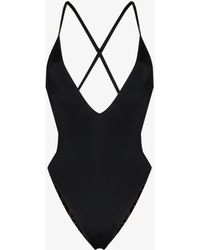 Fendi Reversible Ff Print Swimsuit - Black