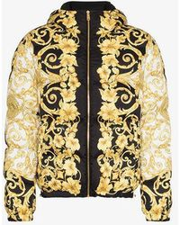 Versace - Baroque Print Padded Coat - Lyst