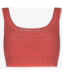 She Made Me Indra Crochet Crop Top - Pink