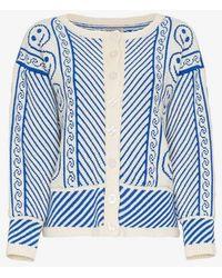 Ashley Williams Hannah Smiley Face Cardigan - Blue