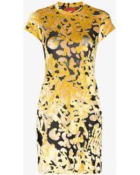 Eckhaus Latta Shrunk Mesh Dress - Yellow