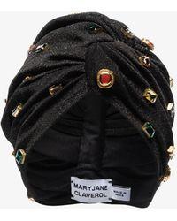 MaryJane Claverol Teresita Crystal Turban - Black