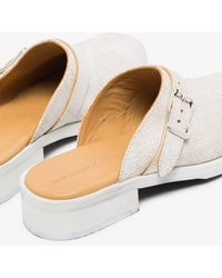 Our Legacy White Camion Suede Mules