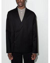 Tom Wood Wool Kimono Jacket - Black