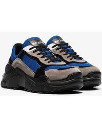 Balmain - Multicoloured Jace Technical Suede Sneakers - Lyst