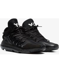 Y-3 - Black Leather Kusari Trainer - Lyst