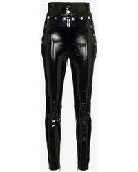 SKIIM Natalie Patent Leather Skinny Pants