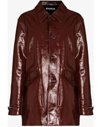 Our Legacy Buta Leather Coat - Red