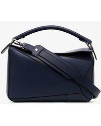 Loewe - Navy Blue Puzzle Medium Leather Shoulder Bag - Lyst