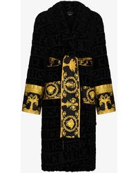 Versace I Love Baroque Cotton Robe - Black