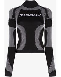 MISBHV Sport Active Classic Fitted Performance Top - Black