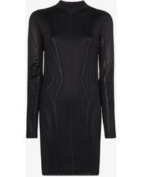 Mugler - Embossed Fitted Mini Dress - Lyst